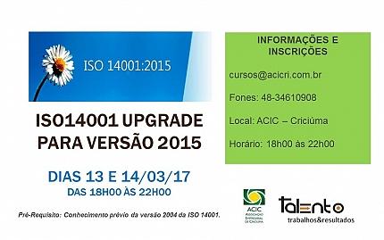 ISO 14001 UPGRADE PARA VERSÃO 2015
