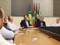 Desenvolvimento do Sul pauta reunião entre empresários e o presidente da Fiesc