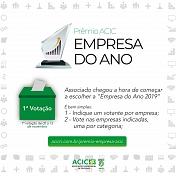 Acic abre primeira votação para o Prêmio Empresa do Ano