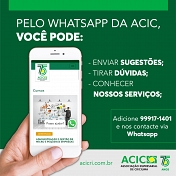 Acic adota atendimento via WhatsApp