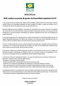 Acic apoia redução de gastos na Alesc