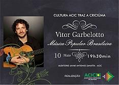 ACIC traz Vitor Garbelotto a Criciúma