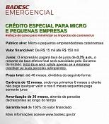 Badesc abre linha emergencial para micro e pequenas empresas afetadas pelas medidas de combate ao coronavírus