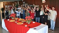 Confraternização da equipe de funcionários da Associação Empresarial de Criciúma