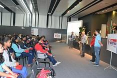 Escolas na ACIC recebe estudantes da escola Dionizio Milioli