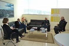 Presidente da ACIC recebe deputado federal Jorginho Mello