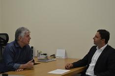 Presidente da Acic recebe visita de Daniel Freitas
