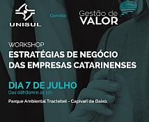 Workshop Gestão de Valor: Estratégias de negócios de empresas catarinenses