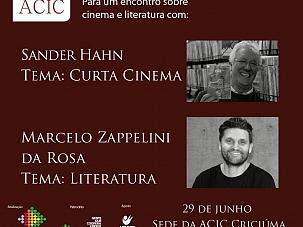 Cinema e literatura serão temas de palestra na ACIC