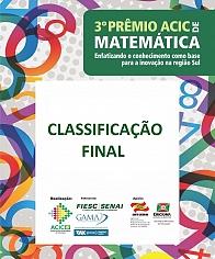 Resultado Prêmio ACIC de Matemática