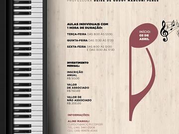 AULAS DE PIANO - CULTURA ACIC