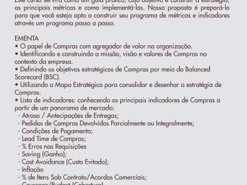 MÉTRICAS E INDICADORES DE COMPRAS