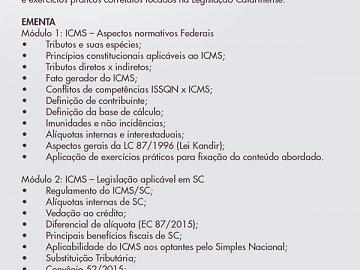 PRÁTICO DE ICMS COM ÊNFASE NA LEGISLAÇÃO CATARINENSE