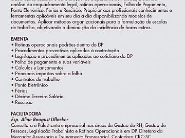 TÉCNICO EM DEPARTAMENTO PESSOAL