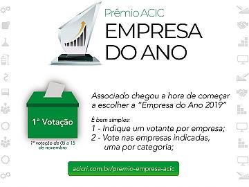 Acic abre primeira etapa de votação para o Prêmio Empresa do Ano