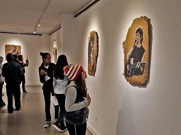 Estudantes de Morro Grande visitam galeria de arte da Acic