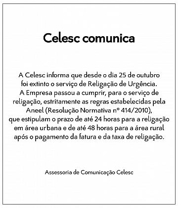 Comunicado CELESC