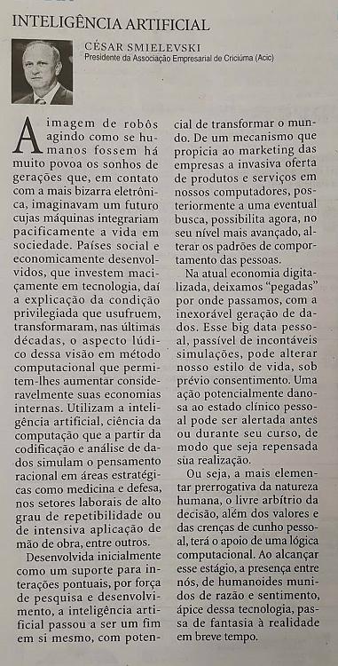 12/09 - Artigo publicado no Diário Catarinense