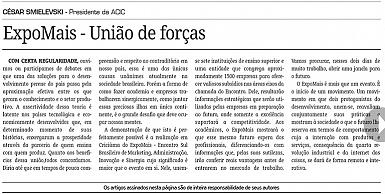 25/10 - Artigo publicado no Jornal A Tribuna