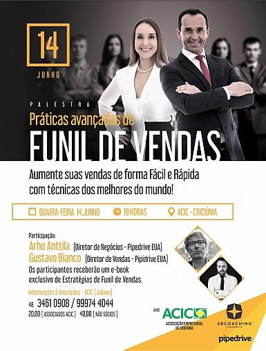 Especialistas europeus em vendas palestram em Criciúma