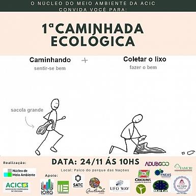Núcleo do Meio Ambiente da Acic promove 1ª Caminhada Ecológica
