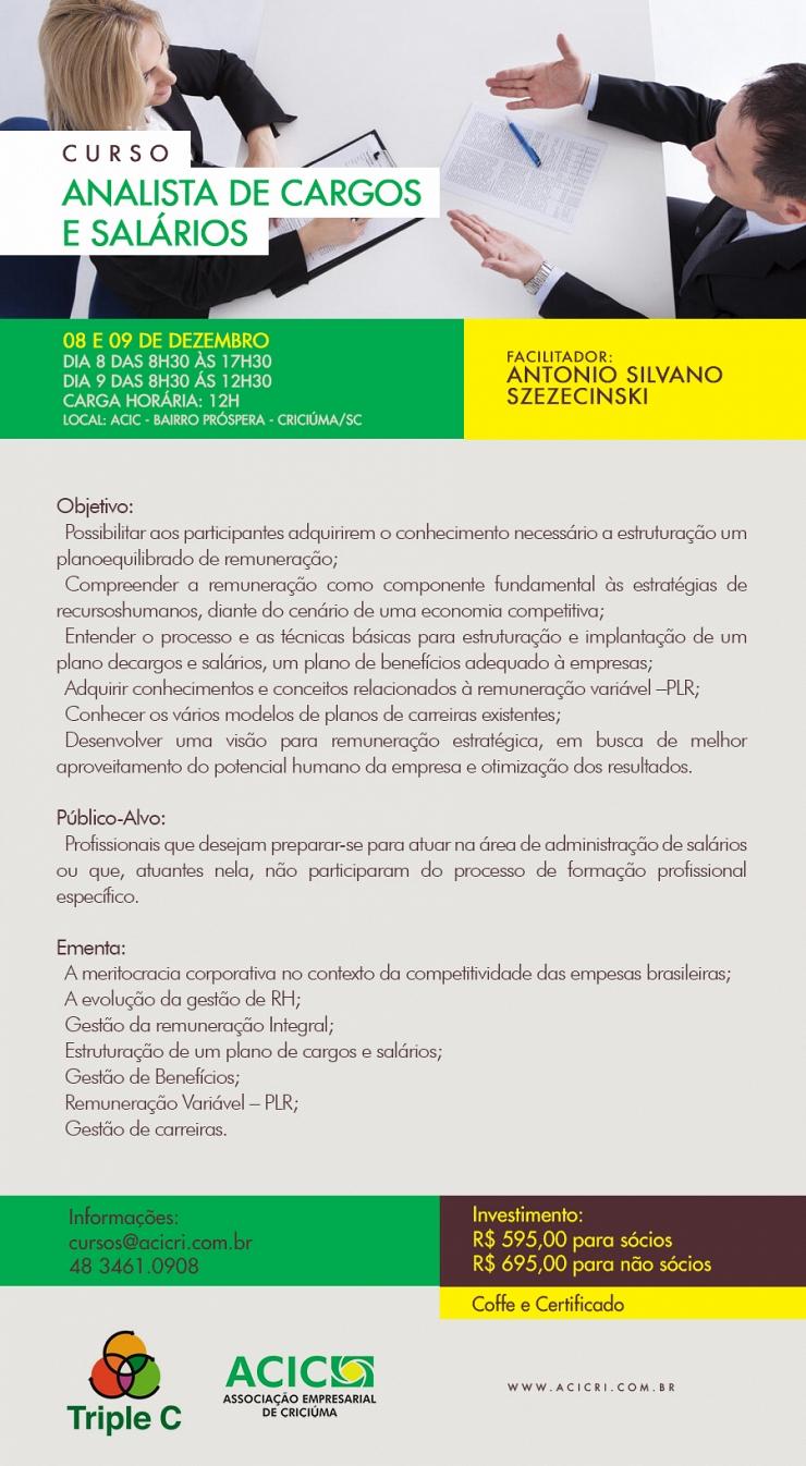 ANALISTA DE CARGOS E SALÁRIOS