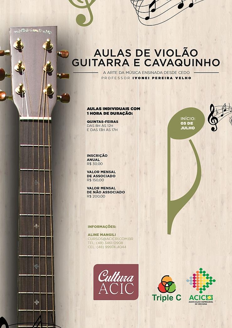 AULAS DE VIOLÃO, GUITARRA E CAVAQUINHO