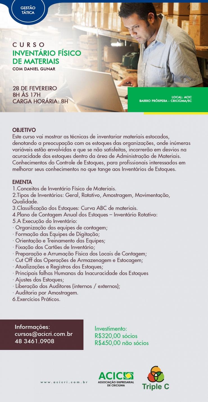 INVENTÁRIO FÍSICO DE MATERIAIS