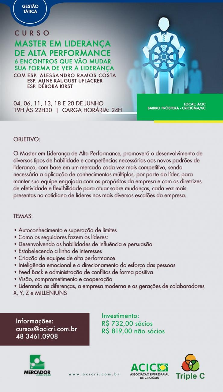 MASTER EM LIDERANÇA DE ALTA PERFORMANCE