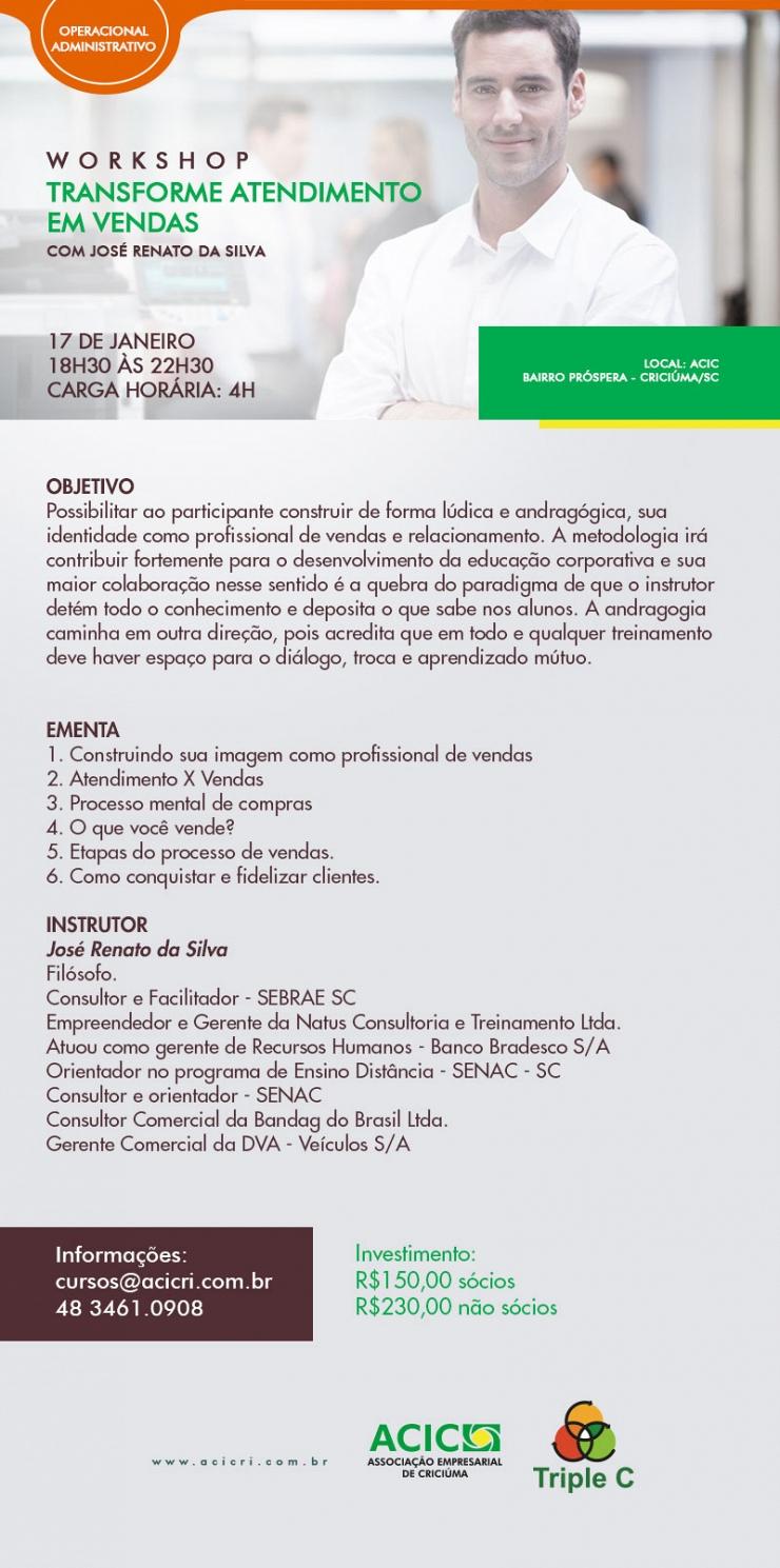 TRANSFORME ATENDIMENTO EM VENDAS