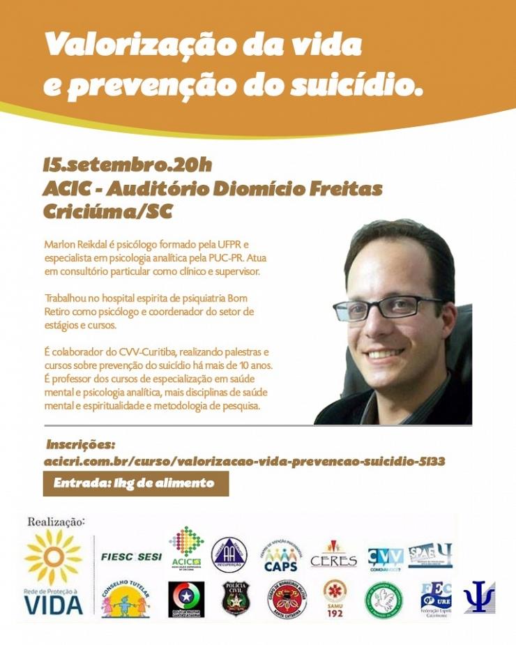 VALORIZAÇÃO DA VIDA E PREVENÇÃO DO SUICÍDIO